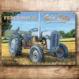 Metaalplaat Massey - Ferguson 35 Gold Belly