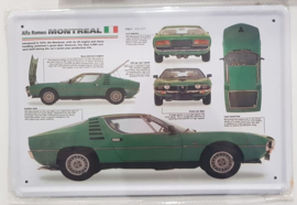 Metaalplaat Alfa Romeo Montreal