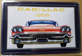 Metaalplaat Cadillac 1958