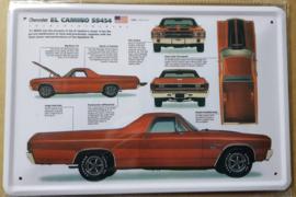 Metaalplaat Chevrolet El Camino SS454