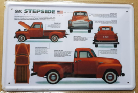 Metaalplaat GMC Stepside