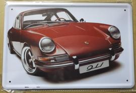 Metaalplaat Porsche 911