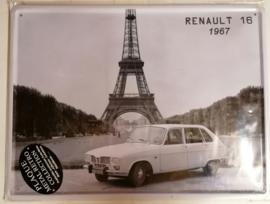 Metaalplaat Renault 16  1967