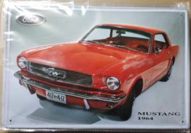 Metaalplaat Ford Mustang 1964 x