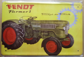 Metaalplaat Fendt Farmer 2