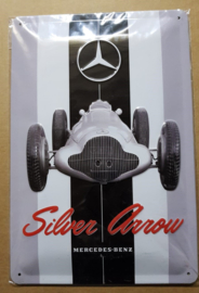Metaalplaat Mercedes-Benz Silver Arrow