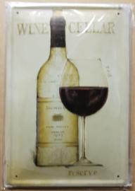 Metaalplaat Wijn