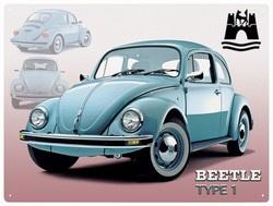 Metaalplaat Volkswagen Beetle type 1