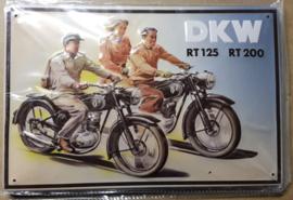 Metaalplaat DKW RT 125 RT 200 (20 x 30 cm)