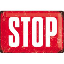 Metaalplaat STOP
