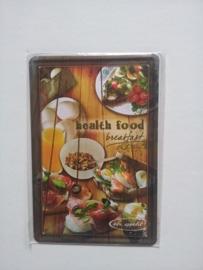 Metaalplaat Health food breakfast