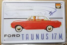 Metaalplaat Ford Taunus 17 M