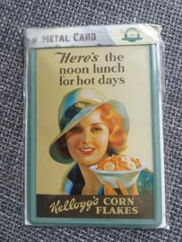 Metalen Postkaart Kellogg's Corn Flakes
