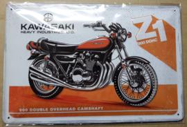 Metaalplaat Kawasaki Z1 900 DOHC