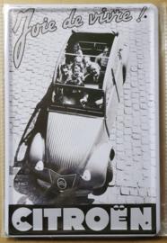 Metaalplaat 2CV Citroën