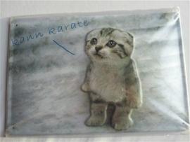 Metaalplaat kat