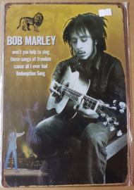 Metaalplaat Bob Marley