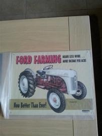 Metaalplaat Ford Farming