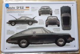 Metaalplaat Porsche 912