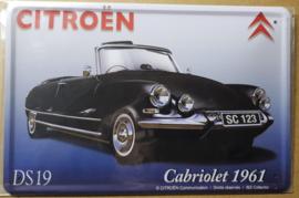 Metaalplaat Citroën DS19 Cabriolet 1961