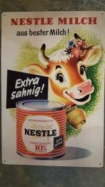 Metaalplaat Nestlé melk