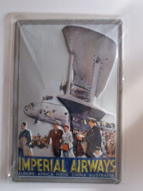 Metaalplaat Imperial Airways