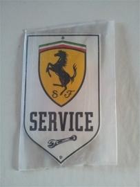 Logo/merk plaatje Ferrari Service