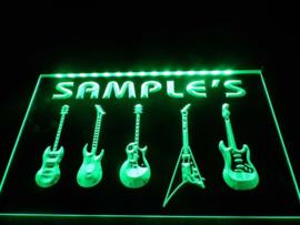 """3D ledverlichting """"guitars"""" te personaliseren met je eigen naam!"""