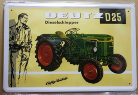 Metaalplaat Deutz D25