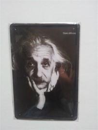 Metaalplaat Einstein: Think different