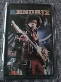 Metaalplaat Jimi Hendrix