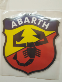Emaille logo plaat Abarth