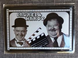 Metaalplaat Laurel and Hardy (dikke en dunne)