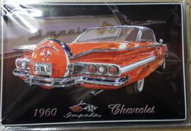 Metaalplaat Chevrolet Impala 1960