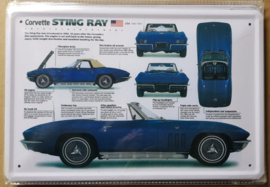 Metaalplaat Chevrolet Corvette Sting Ray