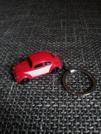 Sleutelhanger VW kever rood met ledlichtjes