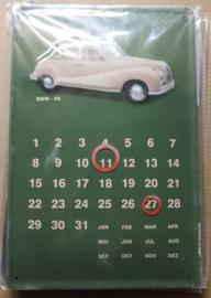 Metaalplaat BMW V8 kalender