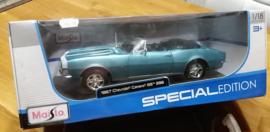 Schaalmodel 1967 Chevrolet Camaro SS  396  1/18