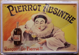 Metaalplaat Pierrot Absinthe