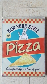 Metaalplaat New York Style Pizza