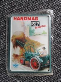 Metaalplaatje Hanomag 8 x 11 cm  R27 Combitrac