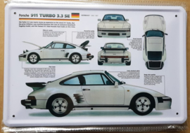 Metaalplaat Porsche 911 Turbo 3.3 SE