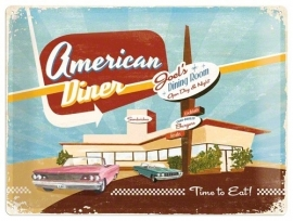 Metaalplaat American Diner