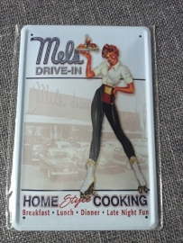 Metaalplaat Mels Drive In