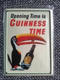 Metaalplaatje Guinness 8 x 11 cm Opening Time