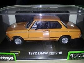 Schaalmodel 1972 BMW 2002 tii oranje 1/32