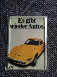 Metaalplaatje Opel 8 x 11 cm GT