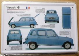 Metaalplaat Renault 4