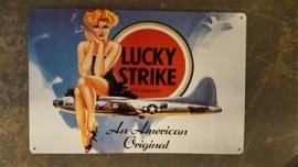 Metaalplaat sigaretten Lucky Strike