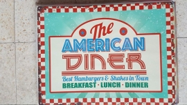 Metaalplaat The American Diner